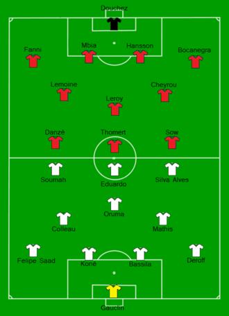 2009 Coupe de France Final - Image: 2009 French Cup final Stade Rennais FC vs EA Guingamp Line up