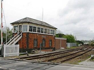 Truro railway station - The signal box at Truro