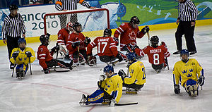 Hockey Canada - Canadian national sledge hockey team vs Sweden, Vancouver 2010 Paralympics