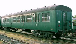 2011-05-08 3rd class L-Type rail carrige (formerly belgian railways SNCB) as preserved by CFV3V heritage railway.jpg