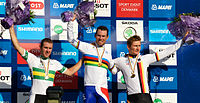 2011 Road World Championships Mens road race podium.jpg
