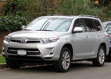 Facelift Toyota Highlander Hybrid Limited Us
