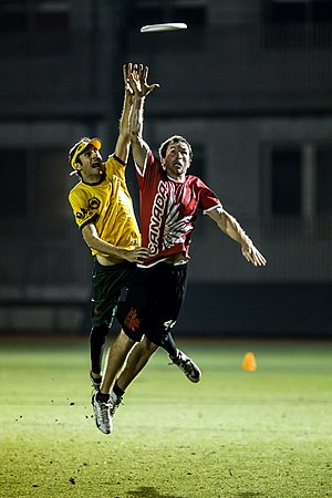 Amateur sports - Australia vs Canada, ultimate players at the 2012 WUGC in Japan. Ultimate Canada