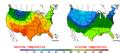 2013-05-01 Color Max-min Temperature Map NOAA.png