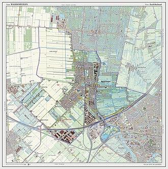 Waddinxveen - Dutch Topographic map of Waddinxveen, July 2013