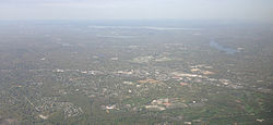 View of Paramus from an airplane