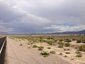 2014-07-17 15 07 58 View south along Nevada State Route 375 about 8.5 miles south of the Nye County Line in Rachel, Nevada.JPG