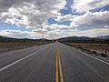 2014-08-09 15 33 23 View west along U.S. Routes 6 and 50 about 93.7 miles east of the Nye County line in White Pine County, Nevada.JPG
