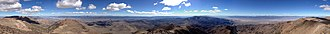 Mount Jefferson (Nevada) - Image: 2014 10 19 13 14 54 Full 360 degree panorama from the edges of the south summit of Mount Jefferson, Nevada