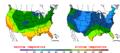 2015-10-31 Color Max-min Temperature Map NOAA.png