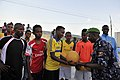 2015 03 04 AMISOM Police football players play with Dharkenley Team-9 (16528725438).jpg