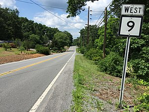 West Virginia Route 9 - View west along WV 9 in Morgan County