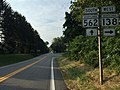 2016-07-28 07 51 45 View west along Maryland State Route 138 (Troyer Road) at Maryland State Route 562 (Troyer Road) in Shepperd, Baltimore County, Maryland.jpg