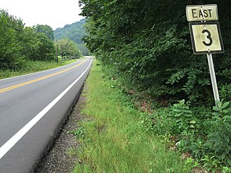 West Virginia Route 3 - View east along WV 3 just east of US 119 in Boone County