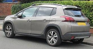 Peugeot 2008 - Image: 2017 Peugeot 2008 Allure 1.2 Rear