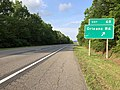 2019-05-17 18 28 28 View east along Interstate 68 and U.S. Route 40 (National Freeway) at Exit 68 (Orleans Road) in Piney Grove, Allegany County, Maryland.jpg