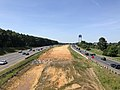 2019-06-24 11 06 51 View south along Interstate 95 and U.S. Route 17 from the overpass for Cowan Boulevard in Fredericksburg, Virginia.jpg