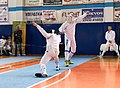 2nd Leonidas Pirgos Fencing Tournament. The lunge of the fencer on the left.jpg