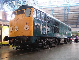 British Rail corporate liveries - Class 31 No.31018 in the standard Rail Blue colour scheme