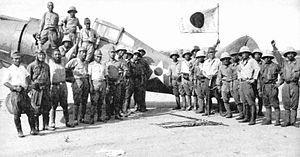 34th Pursuit Squadron - Captured Japanese photo of a 34th Pursuit Squadron P-35A sized at Orani Airfield by Japanese Forces