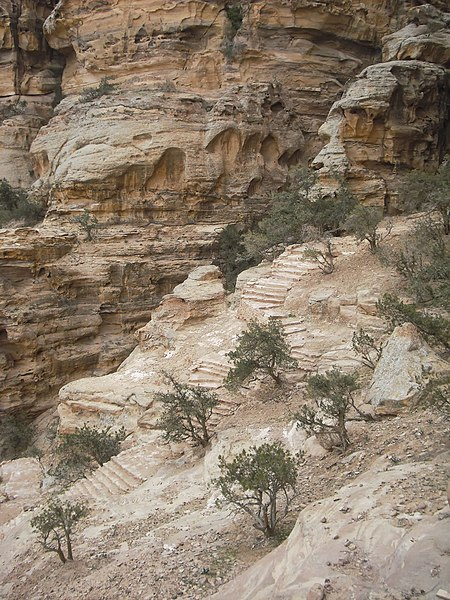 File:39 Petra High Place of Sacrifice Trail - The Trail Past the Monastery Is Well Developed and Maintained - panoramio.jpg