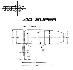 .40 Super - 40 Super Case Dimensions