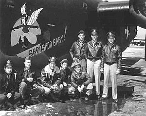 "839th Bombardment Squadron - Flight crew of ""Shoo Shoo Baby"", Ford B-24H-15-FO Liberator 42-52747,  839th Bombardment Squadron"