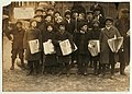 4 p.m. Group of newsies selling in front of South Station. 4 of them said they were 11 years old. Saw no badges in evidence. LOC cph.3b41008.jpg