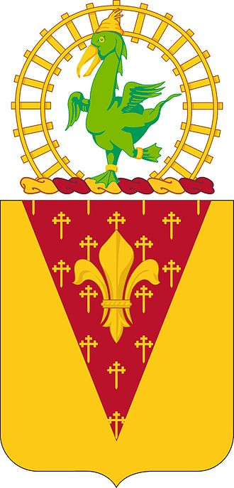 Oozlefinch - the crest of the 53rd Coast Artillery is the symbol of the Railway artillery Reserve