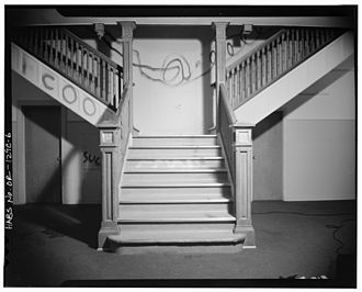 Chemawa Indian School - Inside stairway of McBride Hall