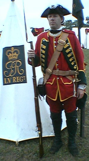55th (Westmorland) Regiment of Foot - Recreation of the uniform of the regiment, c.1755