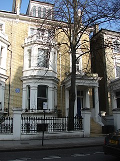 Redcliffe Gardens Street in Chelsea in the Royal Borough of Kensington and Chelsea