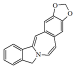 5H- 1,3 dioxolo 4,5-h isoindolo 1,2-b 3 benzazepina.png