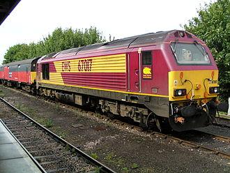 British Rail Class 67 - Image: 67017 'Arrow' at Plymouth
