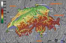 La Cartina Geografica Della Svizzera.Svizzera Wikizionario