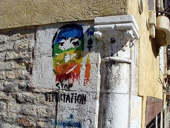 Graffiti-art in Venice, Italy. I think (basing...