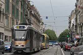 De tram van Brussel in 2009