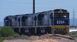 FreightCorp - FreightCorp liveried 82 class locomotives at Port Augusta in December 2006