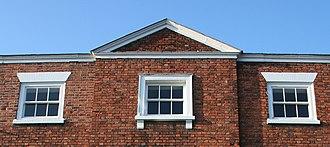 83 Welsh Row, Nantwich - Pediment
