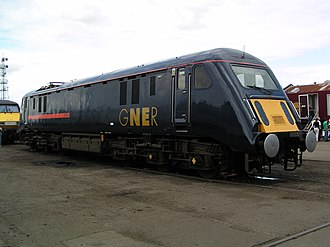 British Rail Class 89 - 89001 in GNER livery at Doncaster Works in July 2003