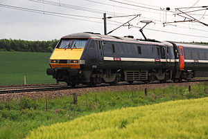 Railway electrification in Great Britain - InterCity 225 on the East Coast Main Line