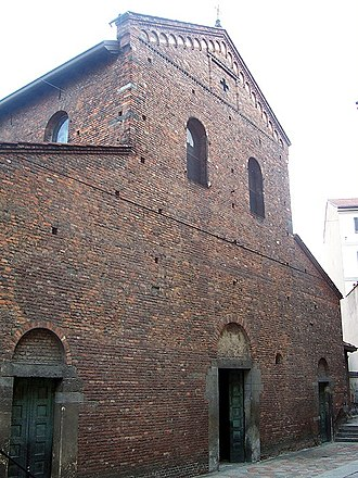 San Vincenzo in Prato - Façade of the church.
