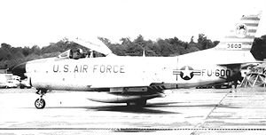 95th Fighter Squadron - 95th FIS F-86D Sabre 53-600, Andrews AFB, 1955