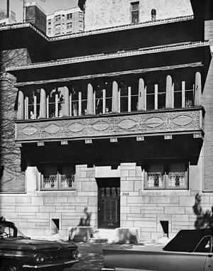 Society of Architectural Historians - Image: 963 WEST (FRONT) FACADE, BALCONY DETAIL HABS ILL,16 CHIG,12 4