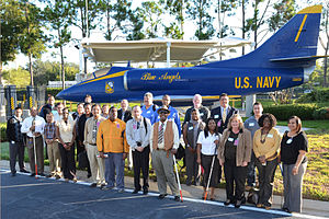 Naval Air Warfare Center Training Systems Division - Image: A 4 139931 in Blue Angel Livery on Disability Mentoring Day
