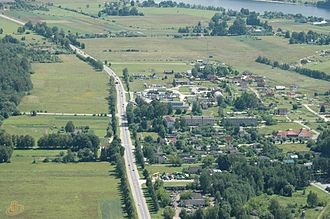 A6 road (Latvia) - Image: A6 Ciemupe