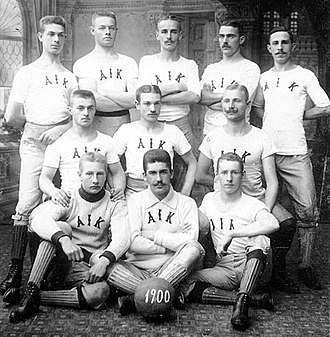 AIK Fotboll - AIK's first squad in 1900 when they won their first Swedish Championship.