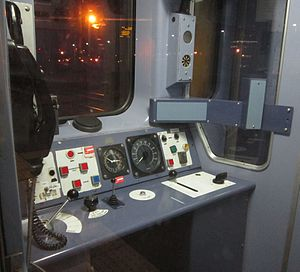 Automatic Warning System - Location of the AWS indicator inside Class 150 driving cab