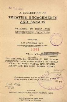 A Collection of Treaties, Engagements and Sanads relating to India and Neighbouring Countries Vol 6.djvu