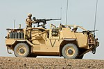 A Jackal Armoured Vehicle is put through it's paces in the desert at Camp Bastion, Afghanistan MOD 45148137.jpg